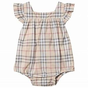 Burberry Baby Girl Apron Back Check Romper 18M